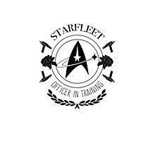 Starfleet Officer In Training (B&W) Photographic Print