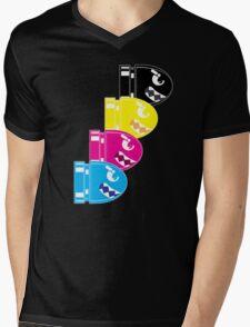CMYK Bullet Mens V-Neck T-Shirt