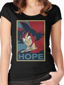 Goku Hope  Women's Fitted Scoop T-Shirt