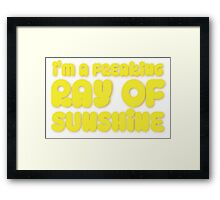 I'm a FREAKING RAY OF SUNSHINE Framed Print