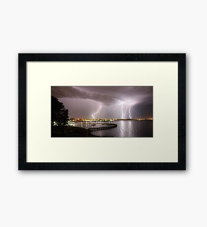"Geelong Lightning - ""Three Strikes, Your Out"" Framed Print"