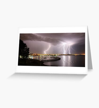 """Geelong Lightning - """"Three Strikes, Your Out"""" Greeting Card"""