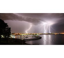 "Geelong Lightning - ""Three Strikes, Your Out"" Photographic Print"