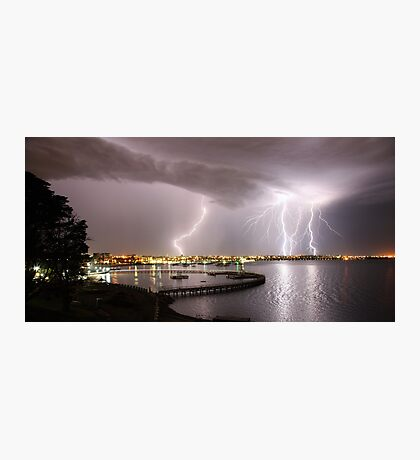 """Geelong Lightning - """"Three Strikes, Your Out"""" Photographic Print"""