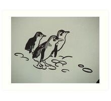 Penguin Mural Art Print