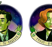 Scully and Mulder by coolghoul98