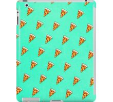 Cool and Trendy Pizza Pattern in Super Acid green / turquoise / blue iPad Case/Skin