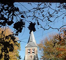 """Church framed in Foliage, St. Michael's Island, MD"" by Lauren Heather Lay"