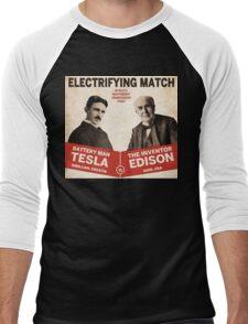 Edison vs Tesla Men's Baseball ¾ T-Shirt