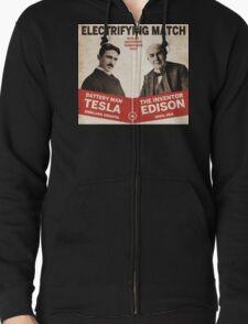 Edison vs Tesla Zipped Hoodie