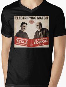 Edison vs Tesla Mens V-Neck T-Shirt