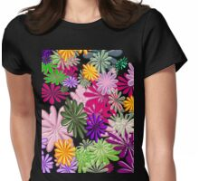Floral Explosion Womens Fitted T-Shirt