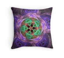 Movement in purple and green Throw Pillow