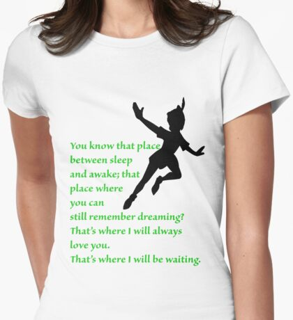 That Place Between Sleep and Awake Womens Fitted T-Shirt