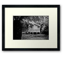 The Boat House B & W Framed Print