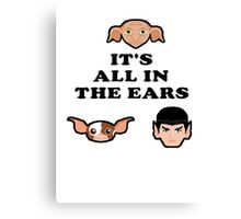 Bad ass ear club Canvas Print