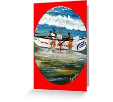 Beach Bums II & Their Budgie Smugglers  Greeting Card