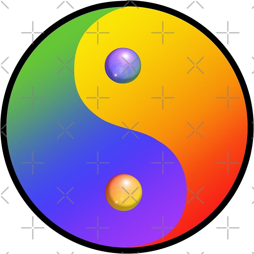 Rainbow Yin Yang by Amy-Elyse Neer
