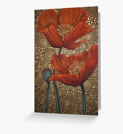 Roux Coquelicots Greeting Card
