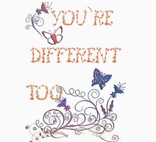 You're Different - Floral Version Womens Fitted T-Shirt