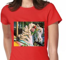 Carousel Horse Womens Fitted T-Shirt