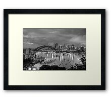 Reflections Of A City - A Study In Black  & White - The HDR Experience Framed Print