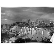 Reflections Of A City - A Study In Black  & White - The HDR Experience Poster