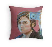 Mirror Face, watercolor on paper Throw Pillow