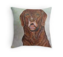 Hunter the trusty dog Throw Pillow