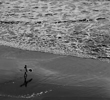 Lonely surfer by Mitch  McFarlane