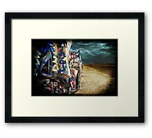 Doomsday on Cadillac Ranch Framed Print