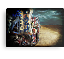 Doomsday on Cadillac Ranch Metal Print
