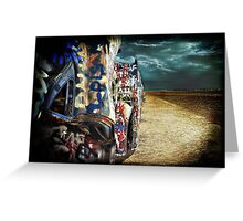 Doomsday on Cadillac Ranch Greeting Card