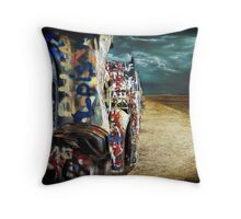 Doomsday on Cadillac Ranch Throw Pillow