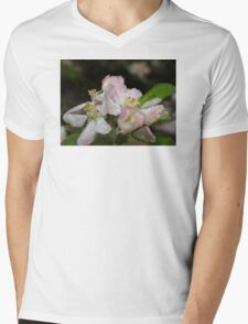 Pink Spring Apple Blossoms Mens V-Neck T-Shirt