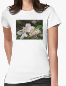 Pink Spring Apple Blossoms Womens Fitted T-Shirt