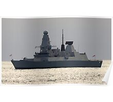 HMS Daring -  Type 45 or 'D' Class Air defence destroyer  Poster