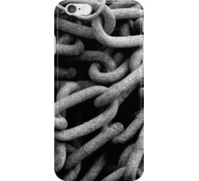 Chains black and white iPhone Case/Skin