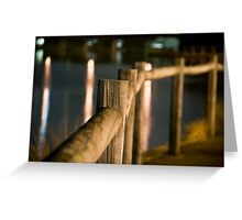 Wooden Railings Greeting Card