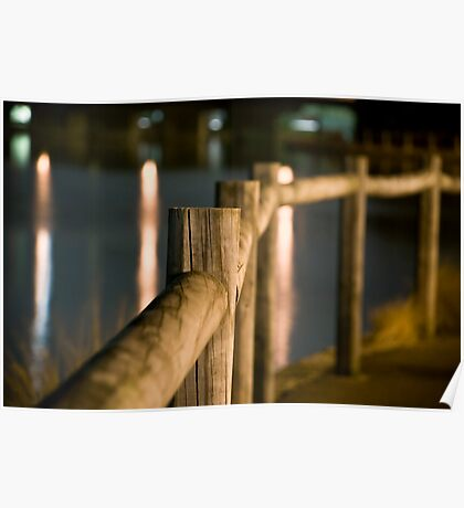 Wooden Railings Poster