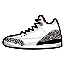 Air Jordan Retro 3 Photographic Print