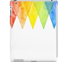 Abstract Triangles Geometric Shapes Watercolor Rainbow iPad Case/Skin