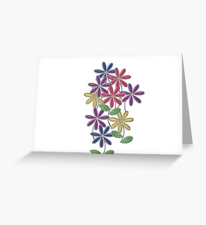 Glass Flowers pastel Greeting Card