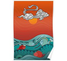 Fish Float Poster