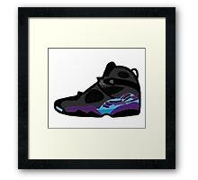 Air Jordan Retro 8 Framed Print