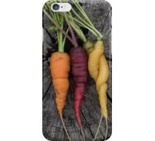 Multicoloured carrots iPhone Case/Skin