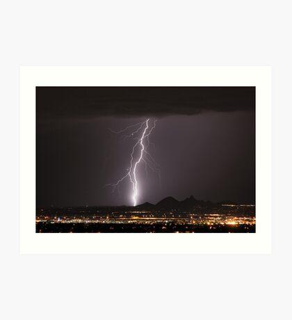 Lightning Striking North Scottsdale Art Print