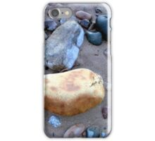 Low tide on the beach reveals treasures iPhone Case/Skin
