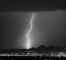 North Scottsdale Ligtning Strike BW by Bo Insogna