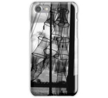 Fishing nets in sun at the river IJssel Netherlands iPhone Case/Skin